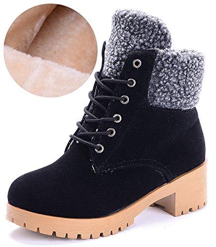 Odema Women's Lace Warm Up Heels Chunky Martin caviglia