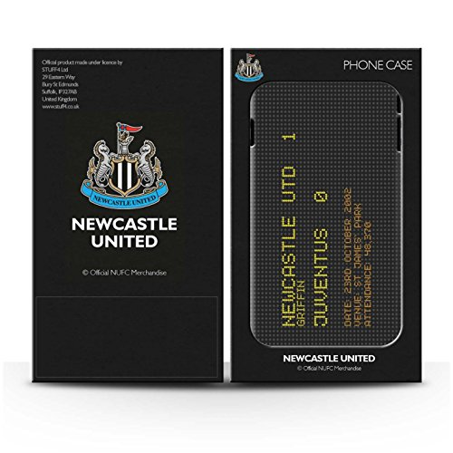 Officiel Newcastle United FC Coque / Etui Gel TPU pour Apple iPhone SE / Pack 7pcs Design / NUFC Résultat Football Célèbre Collection 2002