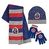 Marvel 2200001554Bürgerkrieg Captain America und Iron Man Kinder Winter Set beinhaltet Beanie Mütze/Handschuhe/Schal (Eine Größe)