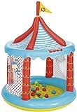 Fisher-Price Bällebad Zirkus Aufblasbar, strapazierfähig, Ø 104cm, Höhe 137cm, mit 25 Bällen