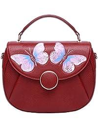 Pijushi Women'S Designer Butterfly Top Handle Satchel Handbag Purse Shoulder Cross Body Bag 8002(One Size, New...