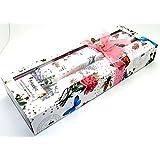 Parfumée au freesia parfumée Cordon de sacs–Lot de 8feuilles–Motif floral 42x 28,5cm