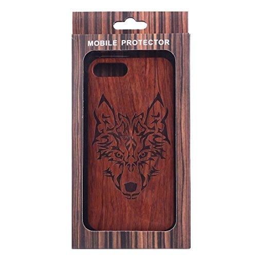 iPhone Case Cover Pour iPhone 7 Plus Sculpture Artistique Rosewood + PC Bordure Étui de protection arrière ( SKU : Ip7p1451x ) Ip7p1451m