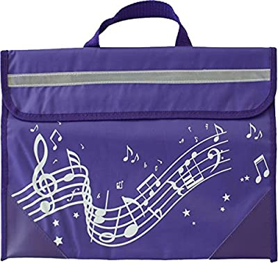 Wavy Stave Music Bag - Purple