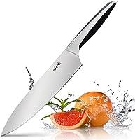 Aicok Coltello da Cucina, Coltello da Chef di 20 cm, Acciaio Inox Tedesco al Carbonio con Impugnatura Ergonomica Brevettata