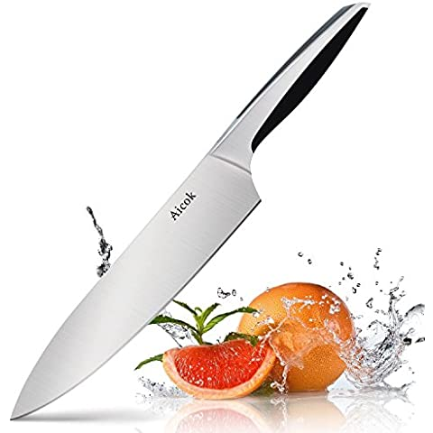 Aicok Coltello da Cucina, Coltello da Chef di 20 cm, Acciaio Inox Tedesco al Carbonio (Coltelli Da Cucina Utensili)