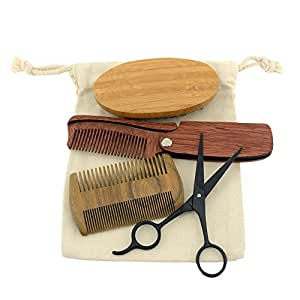 greencolourful beard grooming kit moustache brush comb clipper set for men beauty. Black Bedroom Furniture Sets. Home Design Ideas