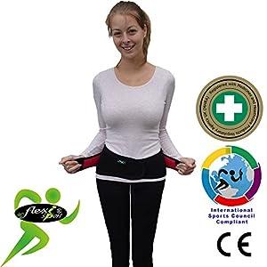Lendengurt Rückenbandage mit Stabilisierungsstäben, Rückenstütze für Herren und Damen, Rückenstützgürtel, Bauchweggürtel, Stützgürtel Rücken
