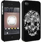 Mocca Design Strass Coque pour iPhone 4/4S Motif Tête de Mort