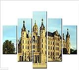 WHOOPS 5 Panel Leinwand Kunstwerk Schwerin Palace