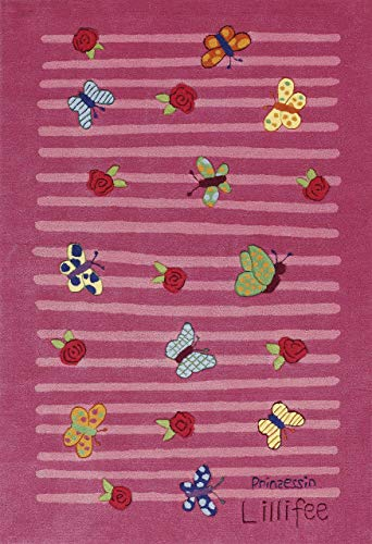 Lillifee Kinder Teppich Pink Schmetterlinge Li–2099–01, Pink, 110 * 170cm