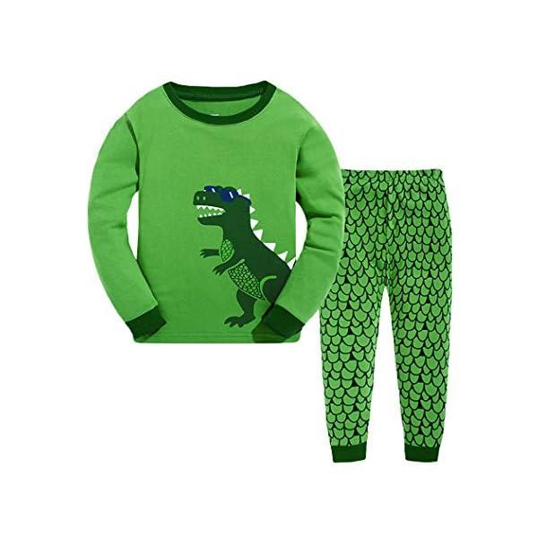 Tkria - Pijama para Niños de Dinosaurio 1 Años - 7 Años 1