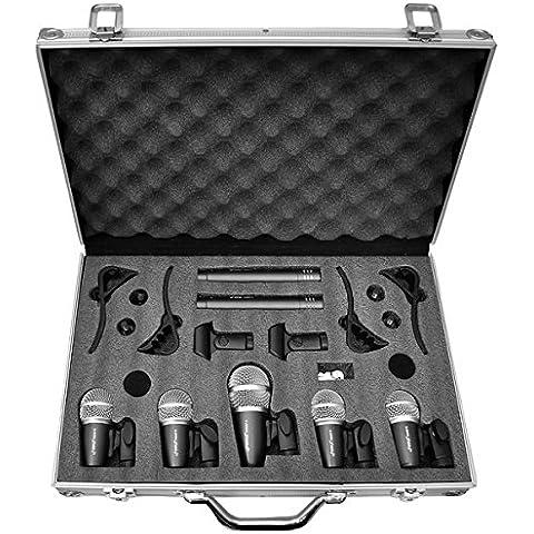 Pyle-Pro - Set di 7 microfoni per batteria