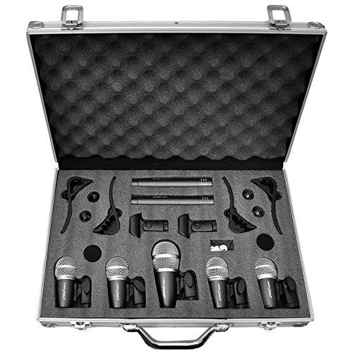Pyle B003FW0IHA 7 Mikrofon verkabelt Trommel Kit mit Koffer/Montagezubehör