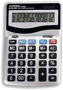 Aurora DT303 Calculatrice de bureau Écran et touches larges (Import Royaume Uni)