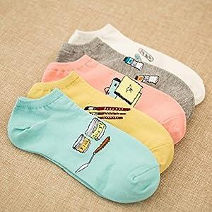 XIU*RONG Lady Socken Socken Baumwolle Komfort Deodorant (10 Paare)