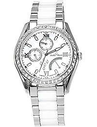 Stella Maris Damen-Armbanduhr Analog Quarz Premium Keramik Diamanten - STM15M1