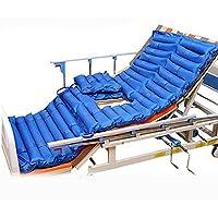 Colchón antiestrés para cama de aire, colchón hinchable con bomba inflable y colchón antideslizante, color azul