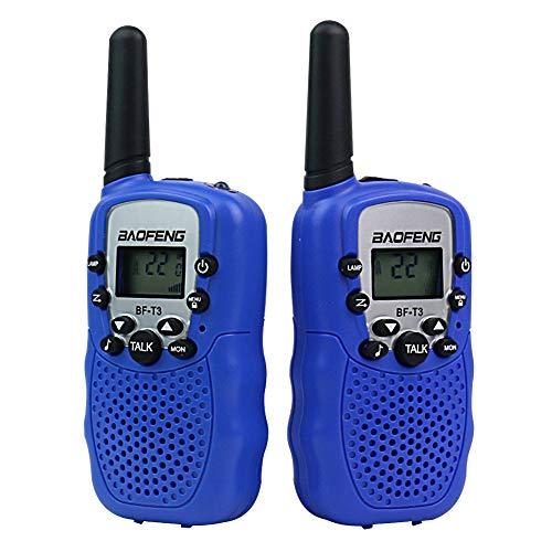 Walkie Talkie Niños Niñas Radio Bidireccional Mini Radio Control PMR446 Walky Talky Niños con Rango de Larga Distancia Interphone de 22 Canales Telefono Juguete Regalos para Niños 3 Años +