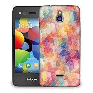 Snoogg cool pattern Designer Protective Back Case Cover For Infocus M2