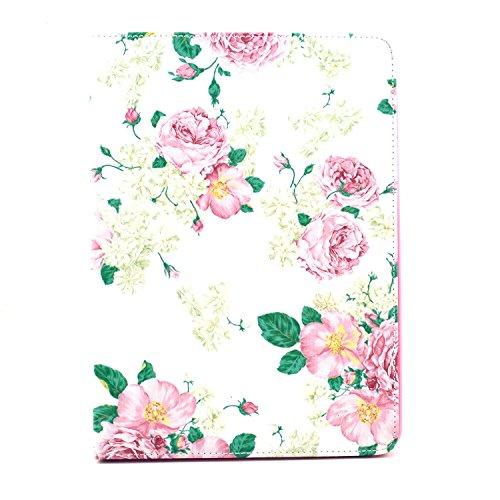 iPad Mini 4Fall, liujie Shop Premium PU Leder Wallet Case Folio Flip Ständer Funktion Schutzhülle mit Kartenschlitzen für Apple iPad Mini 4(20,1cm), 7.9 inch, Blume