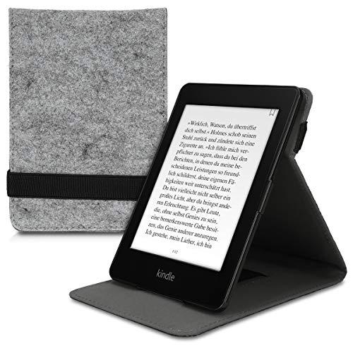 kwmobile Amazon Kindle Paperwhite Hülle - Schlaufe Ständer - e-Reader Schutzhülle für Amazon Kindle Paperwhite (für Modelle bis 2017)