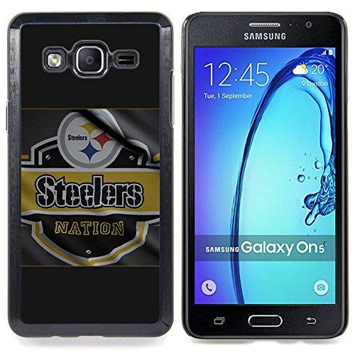TikTakTok Hartschale Schutzhülle Tasche Hülle für Samsung Galaxy On5 O5 - Steeler Nation