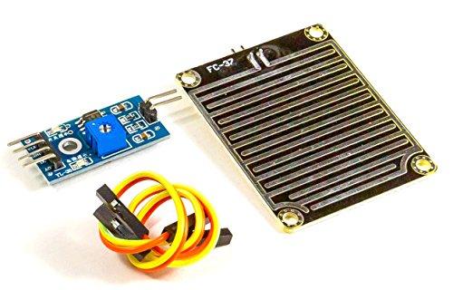MissBirdler Regensensor Feuchtigkeit Spritzwasser YL-38 FC-37 für Arduino Raspberry Pi DIY