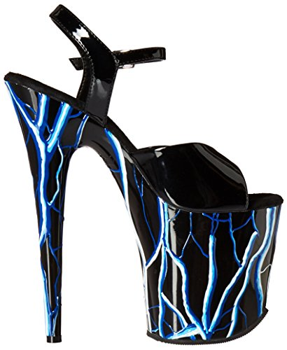 Pleaser FLAMINGO-809NLB Blk/Blk-Neon Blue