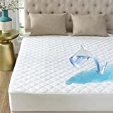 "INVACHI Quilted Mattress Pad - Mattress Cover Stretches up to 18"" Deep Cooling Mattress Plush and Soft Mattress Topper Snow Down Alternative"
