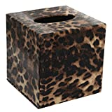 TOOGOO(R) Durable Room Car PU Leather Square Tissue Box Paper Holder Case Cover