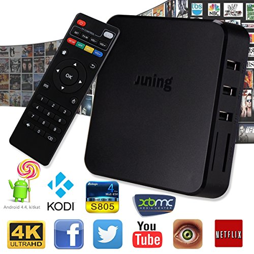 oliying Android TV Box 5.1, 1GB RAM + 8GB ROM Quad Core Cortex A532.4GHz WiFi 4K Wifi Streaming Media Players
