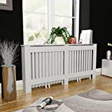 Anself White MDF Radiator Cover Heating Cabinet 172 cm