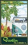 Northwest Art Mall ed-5847STH Destin Florida Truck Hula Print von Künstler Evelyn Jenkins Drew, 27,9x 43,2cm