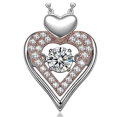 Dancing Heart Ewige Liebe Kette Damen Silber 925 Schmuck weihnachten weihnachtsgeschenk geschenke frauen geburtstagsgeschenke valentinstag valentinstagsgeschenk muttertagsgeschenk muttertag