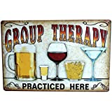 Lovemay 1 Stück Retro Flair Wandschild mit Bier Spruch. Bar Werbeschild Metall Schild als Wanddeko für viele Orte, wie Bar
