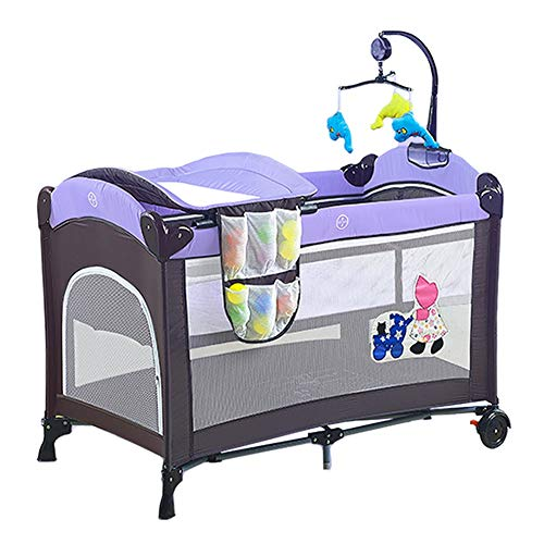 Table à Langer, Une Table à Langer Multifonction Portable avec Roues, Peut être utilisée comme Parc pour bébé et lit Shaker pour bébé