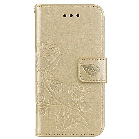 Batterie Gold Iphone 5s - Coque iPhone 5S Anfire Fleur Motif Peint