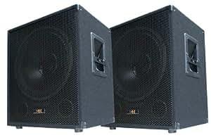 '2x 600W DJ PA caisson de basses Paire de–15Enceinte basse passive–E-Lektron SUB Boîtes de P38