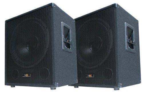 "2x 600W DJ PA Subwoofer Boxen Paar - 15\"" Passiv Bass Lautsprecher - E-Lektron SUB-P38"