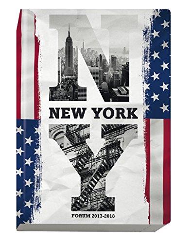 Exacompta Country Flag Agenda Scolaire Journalier Forum août 2017 à juillet 2018 12 x 17 cm visuel New York
