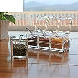 Caja del condimento de cristal del/La cocina salero/Azucarero/tarros de la especia/Tarro de la especia/Especias/especias-A