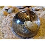 Halbkugel Spähre mit Sand und Muscheln in hochglanz/glasoptik 5cm Herzmuscheln am Strand