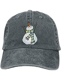 Ejdkdo Snowman Christmas Vintage Jeans Gorra de béisbol para Hombre y Mujer  Multicolor97 22324fd480a