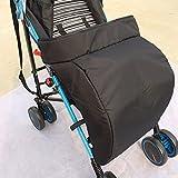 Hipsteen Universal Warm Winter Quilted Kinderwagen Fuß Muff Windschutzscheibe Für Babys Winter Komfortable Schutz Für Säuglinge 60*40cm - Black