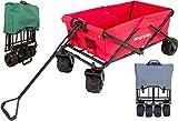 BeachandPool Bollerwagen Faltbar mit Extra-Breiten Reifen, Offroad Transportwagen, Handwagen, Strandwagen (Anthrazit)