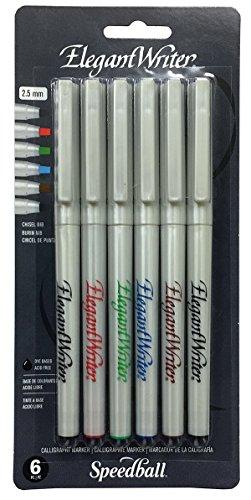 speedball-art-productos-de-plstico-elegante-writer-caligrafa-rotuladores-punta-mediana-6kg