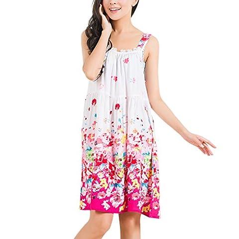 Sleeveless Nightgown, Long T-shirt Plus Size Nightdress Sleeping Dress One Piece Cotton Homewear Nightgown Negligee Nightie Lounge Wear for Women Ladies Girls