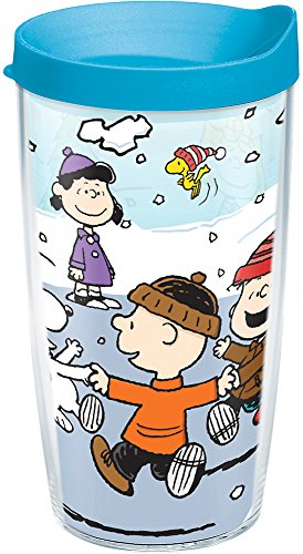 Turquoise Lid, Snoopy, Charlie Brown and the Peanuts gang celebrate Christmas on this festive tumbler that's sure to keep your favorite drinks merry. , Blue ()
