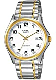 Casio Homme Analogue Date Two Tone Watch, Gris